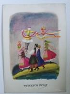 Easter   1970 Year  / Polish  Postcard / / Folk / - Pascua