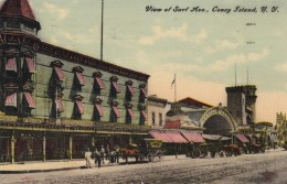 Coney Island New York, Surf Avenue Street Scene, Segall's Bread Delivery Wagon, C1910s Vintage Postcard - Brooklyn