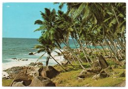 SEYCHELLES - ANSE SEVERE,LA DIGUE / THEMATIC STAMP-MAP - Seychelles