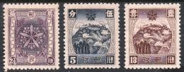 MANCHUKUO/ MANDSCHUKUO 1937 > 4th China Mail Set > Mi. 102-104 – Sc. 112-115 (*) - 1932-45 Mantsjoerije (Mantsjoekwo)