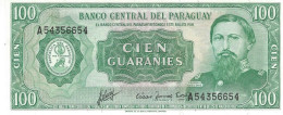 PARAGUAY 100 GUARANIES 1952 (1982) P-205 UNC PICK PLATE SER: A54356654 [ PY820a ] - Paraguay