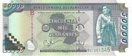 PARAGUAY 50000 GUARANIES 1998 P-218 UNC PICK PLATE SER: B21501345 [ PY833a ] - Paraguay