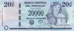 PARAGUAY 20000 GUARANIES 2009 P-230b UNC PREFIX C [ PY852a ] - Paraguay