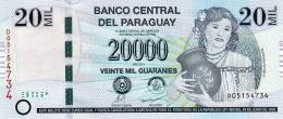 PARAGUAY 20000 GUARANIES 2011 P-230b UNC PREFIX D [ PY852b ] - Paraguay