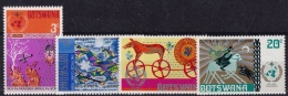 Botswana (Sc # 96-99 ), MNH, (Set Of 4) Centenary International Meteorological Cooperation   (1973) - Botswana (1966-...)