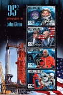 MOZAMBIQUE 2016 ** John Glenn Space Raumfahrt Vouyage Spatial M/S - OFFICIAL ISSUE - A1634 - Space