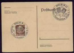 A4173) DR Blankokarte Mit Sonderstempel Berliner-Philatelisten-Klub 17.1.38 - Deutschland