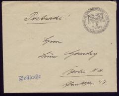 A4176) DR Postsache-Brief Von Berlin-Charlottenburg 10.10.37 SStpl. 5 Jahre Tauschzirkel - Briefe U. Dokumente