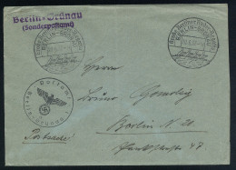 A4177) DR Postsache-Brief Von Berlin-Grünau 20.6.37 Sonderstempel Segel-Regatta - Briefe U. Dokumente