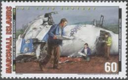 Terrorists Bomb Destroys PAN AM Flight 103 Over Lockerbie Scotland, Aeroplane, Aviation, Terrorism, MNH Marshall - Airplanes