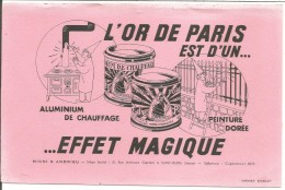 BUVARD PEINTURE L'OR DE PARIS - Blotters