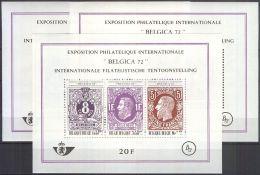 BELGIEN 1970 Mi-Nr. Block 42 3 Stück** MNH - Blocs 1962-....