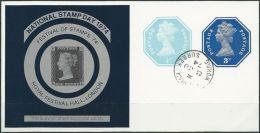 "GROSSBRITANNIEN 1974 SOUVENIR SHEET """"NATIONAL STAMP DAY 1974"""" O Used (100) - Cinderellas"