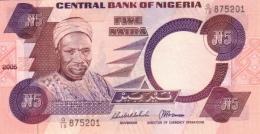 NIGERIA 5 NAIRA 2005 P-24j UNC SIGN. 16 [ NG222j ] - Nigeria