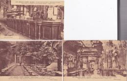 16 2/ 8 / 329  -  LE  GRAND CAFÉ  -  NEVERS  -  3  CPA - Décoration Artistique -  Siège Social De La Menuiserie Et Comme - Nevers