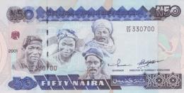 NIGERIA 50 NAIRA 2001 P-27d UNC SIGN. 14 [ NG225e ] - Nigeria