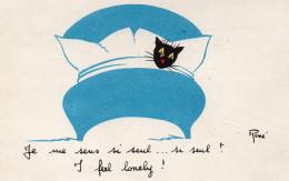 6626. CPSM ILLUSTRATEUR RENE. JE ME SENS SI SEUL...ECRITE 1962 - Otros Ilustradores