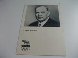 STORIA POSTALE FRANCOBOLLO COMMEMORATIVO OLIMPIADI J. SIGFRID EDSTROM - Personalità Sportive