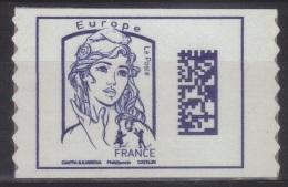 Adhésif Timbre De Carnet Marianne Ciappa Datamatrix Europe Sans Mention De Poids (2016) Neuf** - 2013-... Marianne De Ciappa-Kawena