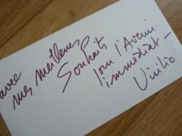Paul VIRILIO (1932-2018) ARCHITECTE - URBANISTE Et PHILOSOPHE. Architecture - Autographe - Autografi