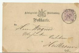 -WUTTEMBERG  GS 1877 Sttugartt - Wuerttemberg