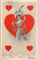 Cartes A Jouer - Femme - Coeur - Marionettes - Automates     (90027) - Cartes à Jouer