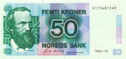 NORWAY 50 KRONER 1993 P-42e AU/UNC [NO042e] - Norway