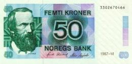 NORWAY 50 KRONER 1987 P-42d UNC [NO042d] - Noruega