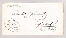 Heimat Schweiz BISCHOFSZELL Balkenstempel 19.7.1832 Vorphila Briefhülle Nach Männedorf - Suisse