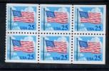 252428390 USA  1988 ** MNH SCOTT 2285c Flag Booklet Pane - United States