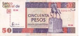 BILLETE DE CUBA DE 50 PESOS CONVERTIBLES DEL AÑO 2007  (BANKNOTE) - Cuba
