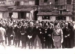 FOTOGRAFIA DI BENITO MUSSOLINI ( IL DUCE ) INSIEME A MILITARI E GERARCHI FASCISTI - 1939-45