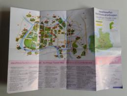 Alt917 Mappa Turistica Tourist Map Ayutthaya Thailandia Thailand Siam Monuments Monumenti Patrimonio UNESCO Wat - Dépliants Turistici