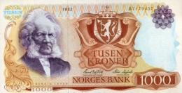 * NORWAY 1000 KRONER 1982 P-40b UNC  [ NO040b ] - Norway