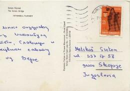 Turkey Via Macedonia,Yugoslavia.nice Stamp - Basketball - Turchia