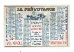 CALENDRIER 1926 PUB LA PREVOYANCE ASSURANCE SUR LA VIE - Kalenders
