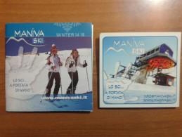 Alt921 Ski Area Map Mappa Piste Sci Impianti Risalita Skilift Cablecar Lifts Domaine Skiable Maniva Val Trompia Brescia - Sport Invernali