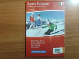 Alt928 Ski Area Map Mappa Piste Sci Impianti Risalita Slopes Skilift Cablecar Charlifts Funivia Lungau Austria Salzburg - Sport Invernali