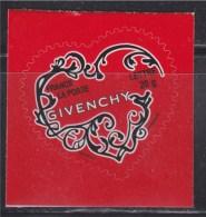 = Coeurs De La Saint Valentin 2007 Autocollant TVP50g Autoadhésif N°102 (type 3996 Gommé) Maison De Couture Givenchy - Frankrijk