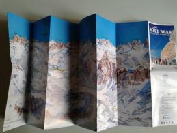 Alt932 Ski Area Map Mappa Piste Sci Impianti Risalita A Fune Skilift Cablecar Comprensorio Dolomiti Cortina D´Ampezzo - Sport Invernali