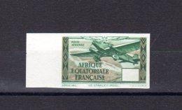 Afrique- équatoriale -Française _ Aviation Non Dentelé - Sans Valeur Dans La Cartouche (essais )  BF - A.E.F. (1936-1958)