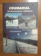 Alt934 Ski Area Map Mappa Sci Fondo Escursionismo Racchette Neve Ciaspole Valle Aosta Coumarial Fontainemore Lillianes - Sport Invernali