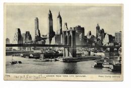 LOWER NEW YORK CITY - SKYLINE 1933  VIAGGIATA FP F.BOLLO ASPORTATO - Long Island
