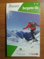 Alt935 Ski Area Map Mappa Piste Sci Impianti Risalita Skilift Cablecar Lifts Funivia Domaine Skiable Bergamo Lombardia - Sport Invernali