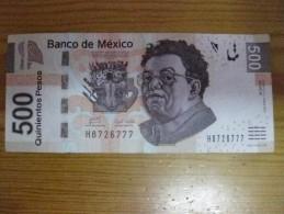 BILLETE DE MEXICO DE 500 PESOS  DEL AÑO 2010 CALIDAD MBC (VF) (BANKNOTE) - México