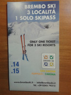 Alt940 Ski Area Map Piste Sci Impianti Risalita Slopes Skilift Cablecar Charlift Funivia Brembo Brembana Foppolo Carona - Sport Invernali
