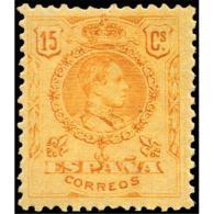 ES271STV-LFT***271STCFR.España.Spain. Espagne.REY ALFONSO Xlll.MEDALLON.1909/22.(Ed 271**)  Sin  Charnela - Familias Reales