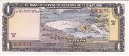BILLETE DE EL SALVADOR DE 1 COLON DEL AÑO 1974 / 1977 DE CRISTOBAL COLON EN CALIDAD EBC (XF)  (BANKNOTE) - El Salvador