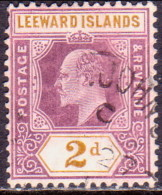 LEEWARD ISLANDS 1906 SG #31 2d Used Wmk Mult. Crown CA CV £26 - Leeward  Islands