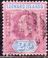 LEEWARD ISLANDS 1906 SG #32 2½d Used Wmk Mult. Crown CA CV £50 - Leeward  Islands